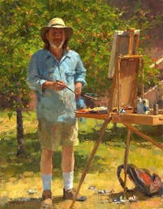 Plein Air Self Portrait by Jim McViker; photo by Joseph Wilhelm, www.meridianphoto.com