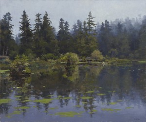 The Lake Fog, oil painting by Jim McVicker photographed by Joseph Wilhelm, www.meridianphoto.com
